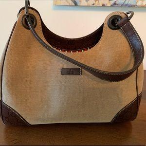 Gucci canvas bag- authentic